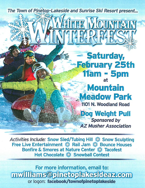 Pinetop-Lakeside White Mountains WinterFest flier (image)