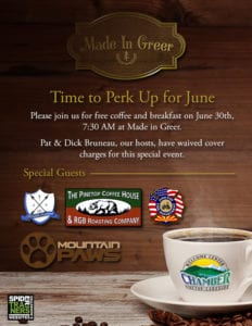June Perk Up flier