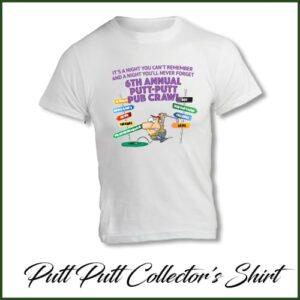 6th Annual Putt Putt Pub Crawl collector's edition t-shirt (image)